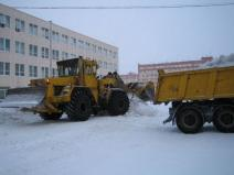 Cleaning and snow removal. Donetsk