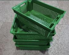 Харчові господарські пластикові ящики для м'яса молока риби ягід