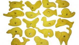 Hooks for climbing walls from the Ukrainian producer