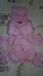 Overall transformer OHARA pink down jacket