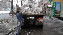 Removal and loading snow Donetsk