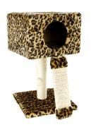 Stand for the cat , universal, leopard-beige