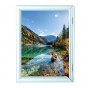 The frame is aluminum A0 format 25 click system (with straight corners)